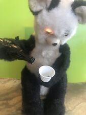 Vintage 1950s Alps Japan Drinking Panda Bear battery operated Partial Workkng