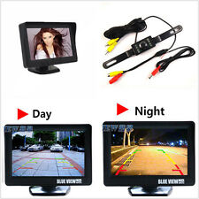 Car SUV Reversing Rear View License Plate Infrared Camera LCD Screen Display Kit