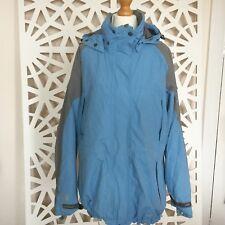 Ladies Blue Grey Regatta Waterproof Breathable Jacket, Size 12 Medium