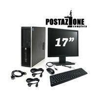 """POSTAZIONE MOUSE TASTIERA COMPUTER HP 6300 SCHERMO 17"""" i3 3° 4GB 250GB WIN 10."""