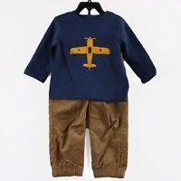 Little Me Boys 2-Piece Outfit Set, size 12 Months, Brown Multi