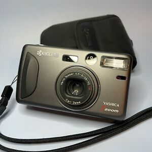 Classic Yashica T Zoom 35mm Point And Shoot Camera + Original Case
