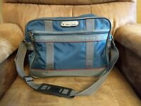 Blue American Tourister Nylon Carry On Shoulder Tote Travel Bag Luggage