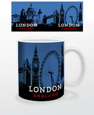 LONDON ENGLAND 11 OZ COFFEE MUG TEA CUP BLUE PRETTY BIG BEN LOVE UK DARK CITY!!!