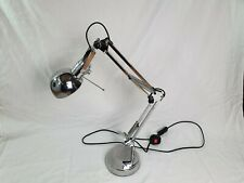 Curved Silver Lamp With Extendable Arm - Free Uk Shipping
