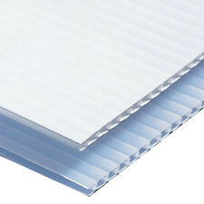 """Corrugated Plastic Sign Blank  Sheets 18""""x12"""" Short Fluted 4mm Coroplast - White"""