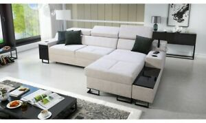 Brand New Corner Sofa Bed With Storage Alicante I Maxi