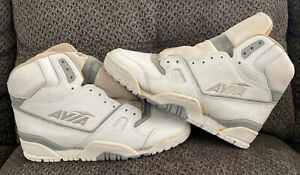 Vintage OG AVIA 858 High Top Basketball Shoes White Grey Leather 10.5 Deadstock