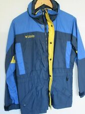 COLUMBIA Blue/ Navy Youth Boy 14/16 Hooded Double Zipper and Snap  Ski Jacket