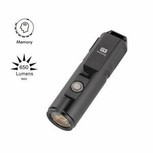A3X 600 Lumens USB Rechargeable Flashlight, Cree XP-G3 Gun Grey, RovyVon