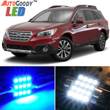 12 x Premium Blue LED Lights Interior Package Kit for Subaru Outback 10-17 +Tool