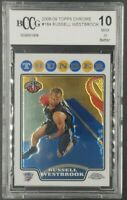 2008-09 Topps Chrome Russell Westbrook RC #184 BCCG 10 Mint Rookie [Not PSA/BGS]