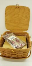 Longaberger 1995 Small Picnic Basket Combo Bpl+Riser Attached Lid New Retired