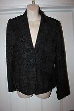 Ladies Edina Ronay London Designer Jacket Size M Uk 12 Womens Textured Coat