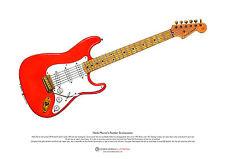 Hank Marvin's Fender Stratocaster ART POSTER A3 size