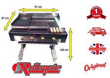 3 IN 1 CHAR FLAME BBQ GRILL ON STAND WITH GRIDDLE & HOTPLATE + SAFETY FEATURES