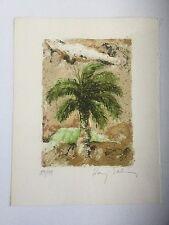 Baruj Salinas, Signed Palm Tree Landscape Numbered Lithograph, Cuban Art