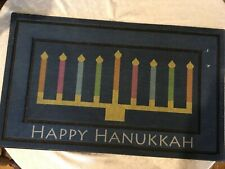 Happy Hanukkah recycled rubber floormat 18 in x 30 in NEW WITH TAGS
