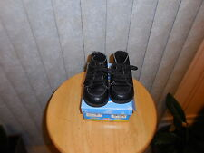 Size:4M-SHOW  AND TELL - Toddler Boys Black High Top lace Up Shoes  :4 M