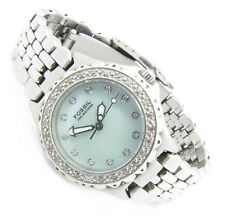 Fossil Blue Damen Armband Uhr Blau Perlmutt Kristall AM-3478 10ATM Bat neu N162