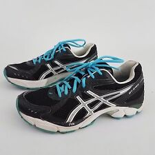Asics GT-2160 Women's Athletic Running Shoes T154N Black Teal White Size US 9.5