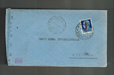 1944 Milan Italy Socialist Republic censored cover to Switzerland Red Cross