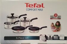 Tefal Comfort Max 5-Piece Set Induction Cookware Set Saucepan x 3 Frypan x 2 NEW