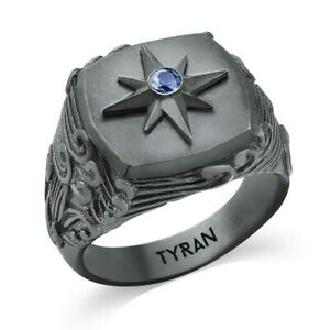 Silver Compas Ring Navy Mens Signet Ring Sterling Mens Jewelry Man Oxidized Ring