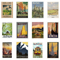 RAILWAYS AND TRAVEL VINTAGE RUSTIC WALL ROOM DECOR OLD ART A4 OR A3 SIZE POSTER