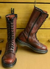 Dr Martens 10183, Red Burgundy 14 eye zipper boots, Size UK 4 EU 37