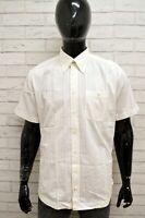CAMEL ACTIVE Camicia Bianca Maglia Uomo Taglia XL Shirt Man Polo Manica Corta