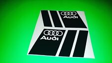 2 x Audi Logo Black Tuning Car/Bumper/Window Vinyl Decal Stickers