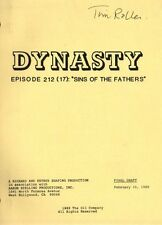 JOAN COLLINS - LINDA EVANS - DYNASTY SCRIPT 'Sins Of The Fathers ' 89' [C#44]
