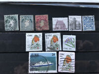 Eire Ireland 11 used stamps, F/VF Irland