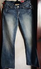 7 FOR ALL MANKIND WOMEN'S LIMITED ED. SWAROVSKI EMBELLISHED BOOTCUT JEANS-sz 28