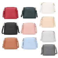 Women Shoulder Bags Girls PU Leather Mini Zipper Crossbody Messenger Totes Purse