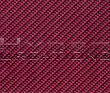 "HYDROGRAPHIC FILM HYDRO DIPPING WATER TRANSFER FILM CARBON FIBER RED 38.5"" x 19"""