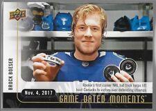 17/18 Upper Deck Game Dated Moments Rookie RC Brock Boeser Nov 4 11 Canucks