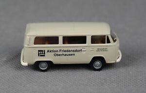 "BREKINA (H0,1:87) VW T2 Bus grau ""Aktion Friedensdorf Oberhausen Schulbus"" #0078"