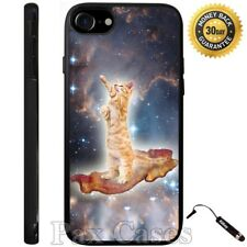 Custom Case Cat Surfing On Bacon For iPhone 6S 7 Plus Samsung Galaxy S7 S8 Plus