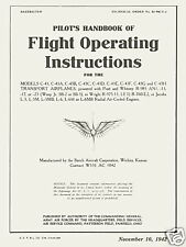 BEECHCRAFT C-43 STAGGERWING - MANUAL T.O.No. 01-90CA-1