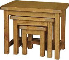 Bracken solid oak furniture small living room lounge nest of tables