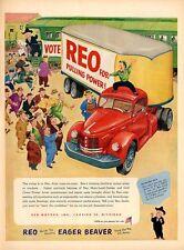 1952 REO Trucks Cute Decor PRINT AD
