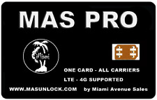 MAS PRO iPhone Unlock SIM for iPhone 7 6S 6 SE 5S 5 AT&T T-Mobile Sprint any iOS