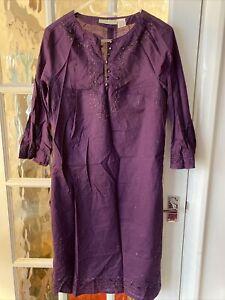 Purple Ladies Cotton Tunic By Couleurs D'ete Size 12
