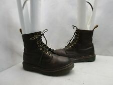 Dr Martens England Brown Leather 8 Eye Lace Up Ankle Boots Womens Sz 4 UK 6 US