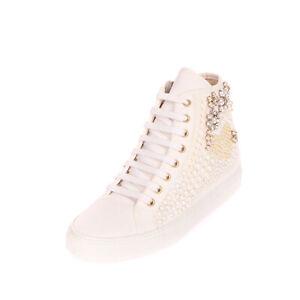 RRP €145 TWIN-SET SIMONA BARBIERI Canvas Sneakers EU 37 UK 3 US 7 Hidden Wedge
