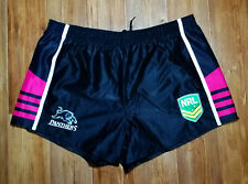 AUSTRALIA NATIONAL RUGBY LEAGUE PENRITH PANTHERS BLACK SHORTS CORTI SIZE 2XL XXL