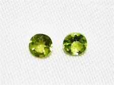 "PERIDOT FACETED ROUND CUT GEMSTONE, 2 PCS, 6MM, 1.5CT ""NEW"" AUZ SELLER C201"