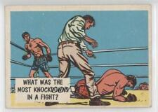 1957 Topps Isolation Booth #68 What was the most knockdowns in a fight? Card 0u7